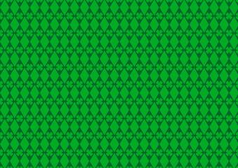 Kleeblatt Raute Grün