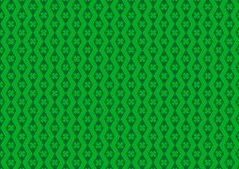 Kleeblatt Raute Grün Dunkelgrün