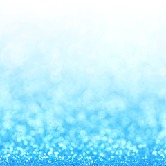 Defocused abstract blue lights background . bokeh lights.