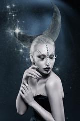 Beautiful moon girl