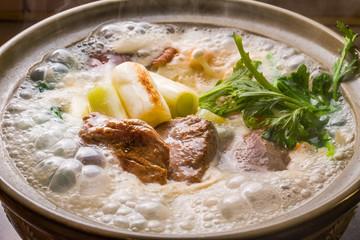 豆乳鍋 Soybean milk pan Japanese foods