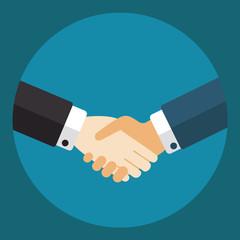 Handshake, businessmen making a deal