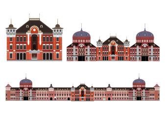 イラスト素材「東京駅 丸の内駅舎」