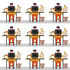 flat illustration open office