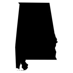 Alabama map on white background vector