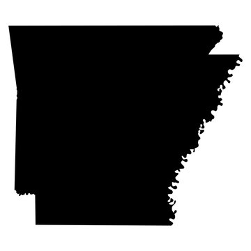 Arkansas map on white background vector