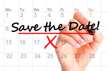 Save the date marked on calendar