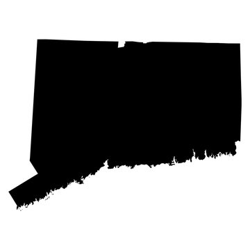 Connecticut map on white background vector
