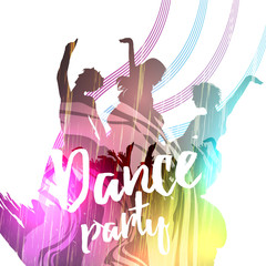 Grunge Poster Template - Vector Illustration