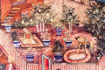 Mural Painting at Wat Phra Singh, Chiang Mai