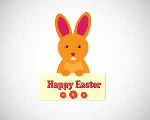 Easter bunny - cartoon illustration