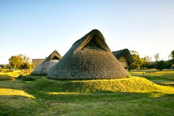 静岡県 登呂遺跡、復元された竪穴住居