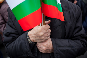 Bulgarian protester