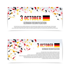 German Reunification Day banners. Vector illustration, eps10.