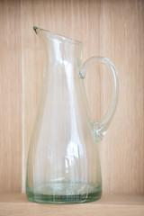 Empty vintage water pitcher