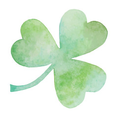 Green clover watercolor Illustration
