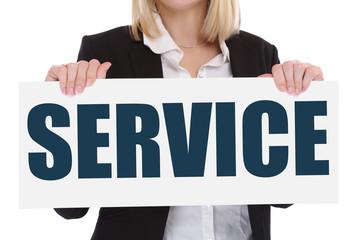Service Kundenservice Dienstleistung Beratung Business Konzept