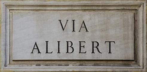 Alibert's Street in Rome