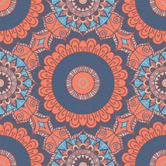 Seamless ethnic pattern with mandala.