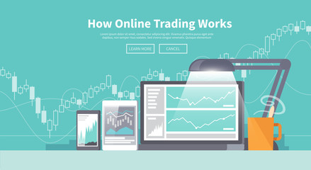 Stock exchange trading of web banners
