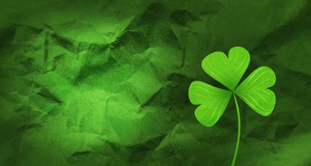 Shamrock leaf clover background