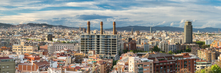 Panorama City View of Barcelona