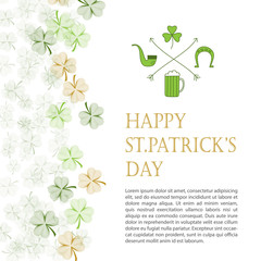 St. Patrick's Day vector design template