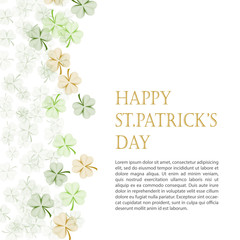 Greeting card Happy St Patrick's Day