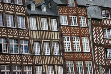 Rennes, maisons à colombages, rue du champ Jacquet