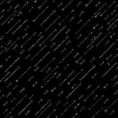 Grunge arrows background. Dark seamless pattern.