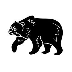 Brown bear - black silhouette 0