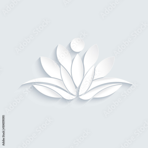 Lotus Flower Logo Concept Of Spirituality Peace Relax Vector