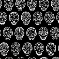 Mexican Scull seamless pattern.