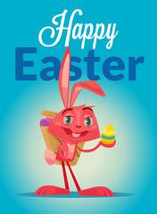 Happy Easter. Vector cartoon illustration