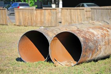 Rusty steel pipe