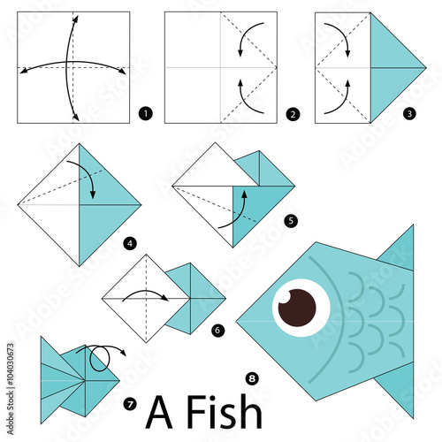 Origami fish step by step 28 images step by step how for Origami swan easy step by step