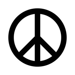 Peace sign flat icon for apps and websites