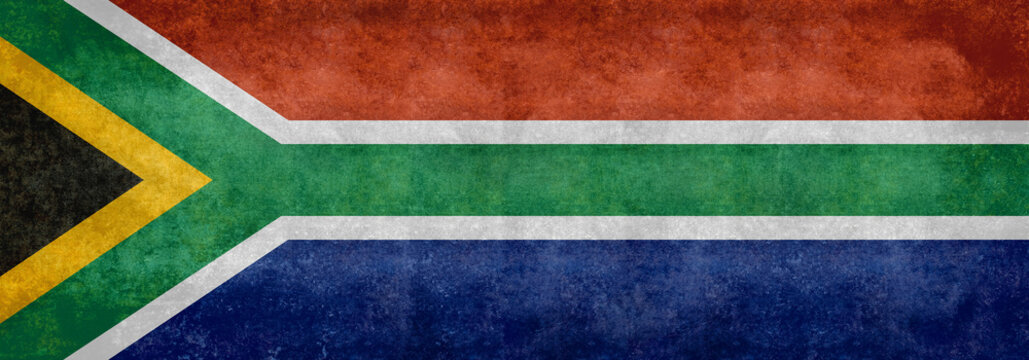 National flag of South Africa - Vintage Banner version