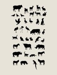 Animal Silhouettes, art vector design