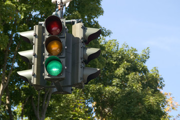 Green Traffic Signal means to proceed with caution