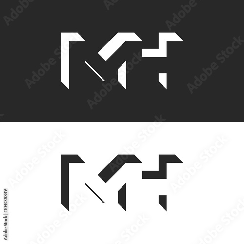 Initials mh letters logo mockup group m and h isometric geometric initials mh letters logo mockup group m and h isometric geometric shape negative space reheart Image collections