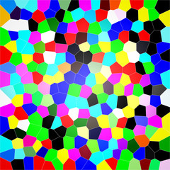 Colorful abstract honeycomb background.