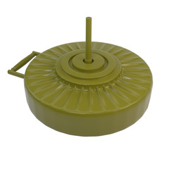 Anti-tank mine, isolated on white background. 3d illustration.