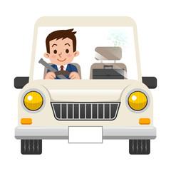 運転中のビジネスマン