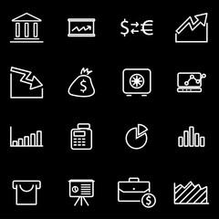Vector line economic icon set. Economic Icon Object, Economic Icon Picture, Economic Icon Image - stock vector