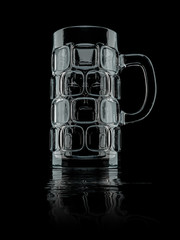 typical big beer glass