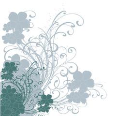 floral bleue