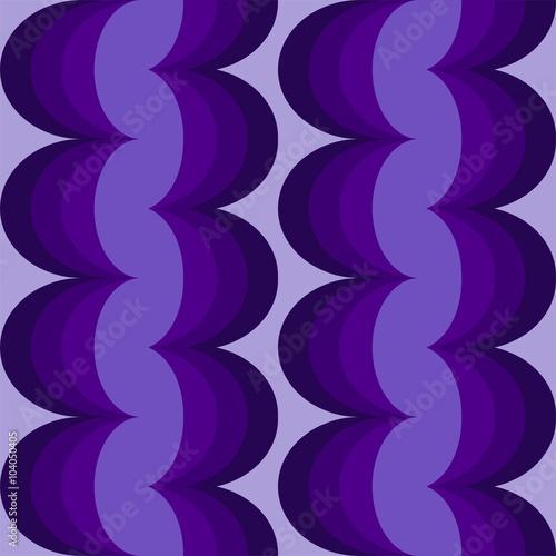 Blau Lila Wellen Muster Design Oranment Für Tapeten, Stoff, Geschenkpapier  Und Druck Als