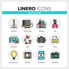 Creative Studio Linero Icons Set