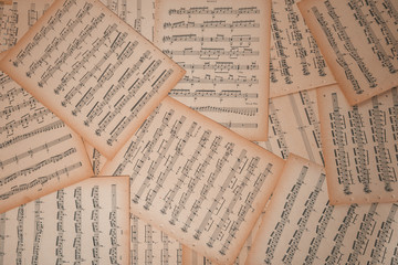 Guitar music sheets.